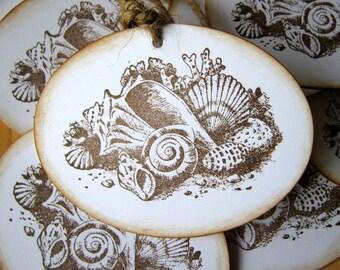 Sea Shell Wedding Wish Tree Gift Tags