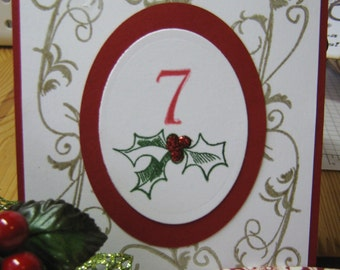 Christmas Holly Wedding Table Numbers