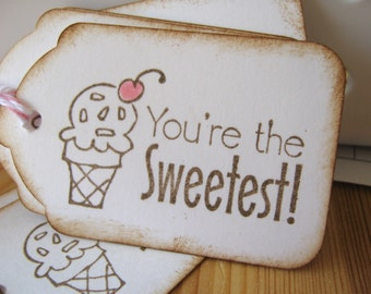 Sweet Icecream Cone Gift Tags