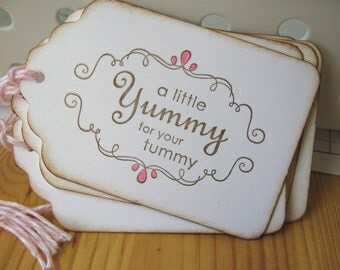 Yummy For Your Tummy Treat Tags