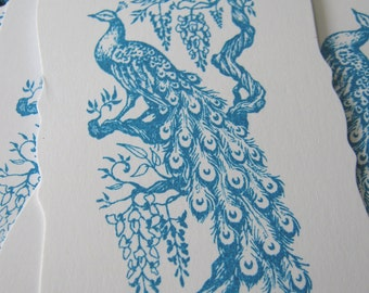 Peacock Wedding Wish Tags, Peacock Gift Tags, Turquoise