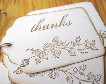 Rose Thank You Gift Tags