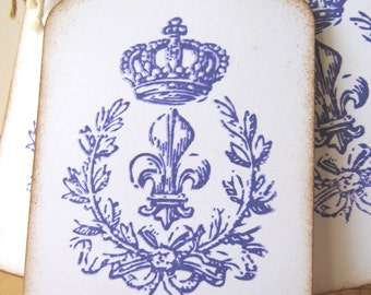 French Market, Fleur De Lis, Crown, and Wreath Tag