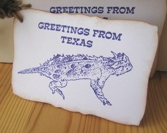 Texas Horned Frog 25 gift tags in Purple