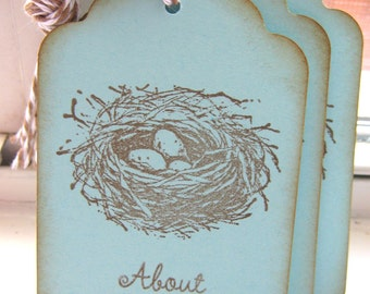 50 about to Hatch Nest Baby Shower Gift Tags