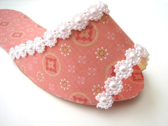 Pink and Pearl Paper Slipper