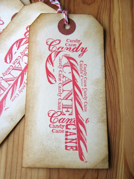 items similar to candy cane christmas gift tag on etsy