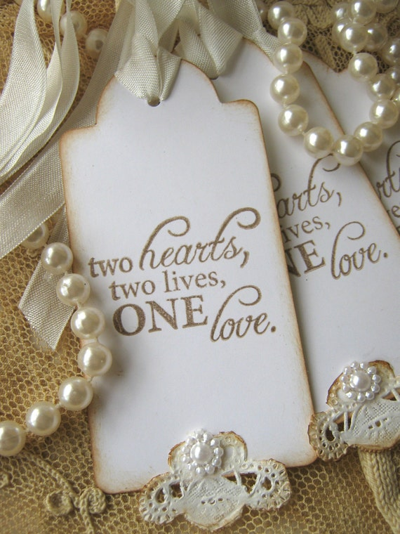Lace Wedding Wish Tags Wedding Favor Tags