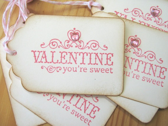 Sweet Pink Valentine Gift Tags