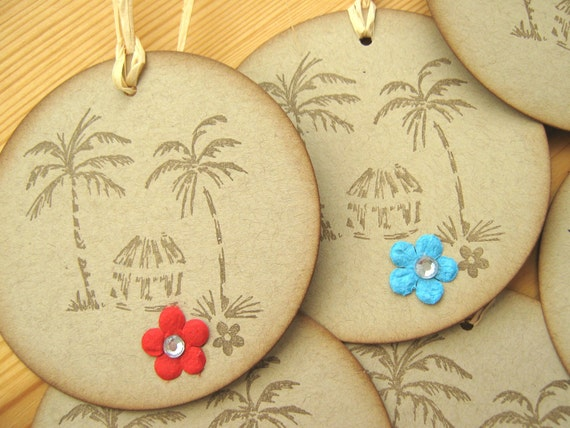 Hawaiian Wedding Gift Ideas: Tropical Hawaii Island Style Beach Hut And Palm Tree Gift