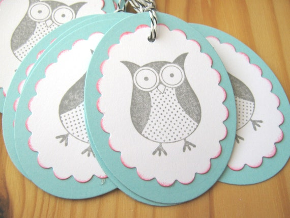 Items Similar To Owl Gift Tags Wedding Favor Tags On Etsy