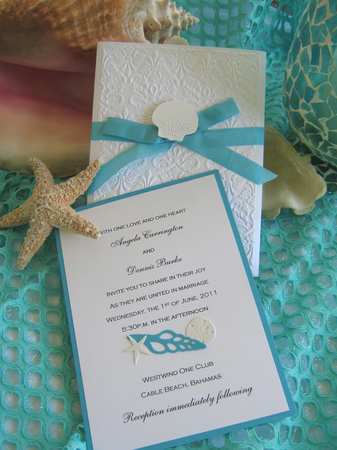 Seashell Wedding Invitations and get inspiration to create nice invitation ideas