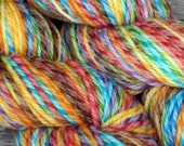 EARTHY RAINBOW Twisted Merino Aran 4 oz - 190 yards