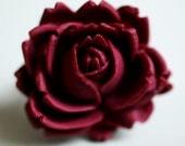 vintage rose ring-maroon