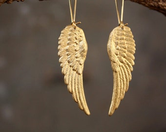 On the Wings of Love Angel Wing Earrings