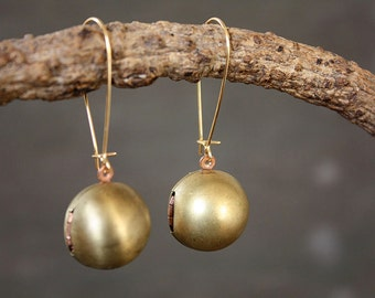 Ball Locket Keepsake Earrings