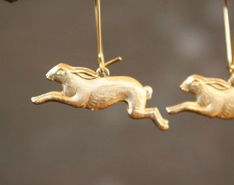 Timid Rabbit Woodland Earrings