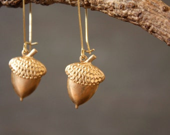 Golden Acorn Earrings