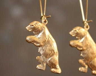 Cub Scout Grizzly Bear Earrings