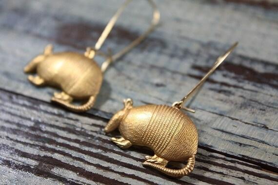 Armadillo Woodland Animal Earrings
