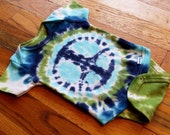 Tie Dye Baby Onesie - Mountain Peace Sign - Sizes newborn, 6, 12, 18, 24 month  - Made To Order