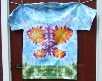 Tie Dye T-shirt - Medium - Butterfly in the Sky - Ready to Ship