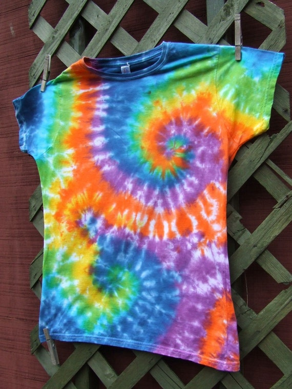 Women's Tie Dye T-shirt - Extra Large - Rainbow Swirls