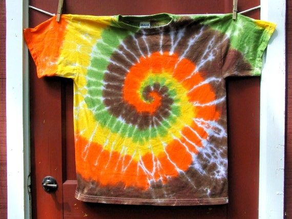 Tie Dye T-Shirt - Autumn Swirl - Youth Extra Large - Ready to Ship