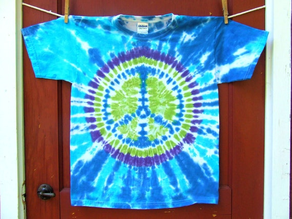 Tie Dye T-shirt - Peace Sign - Youth Large (14-16) - Ready to Ship