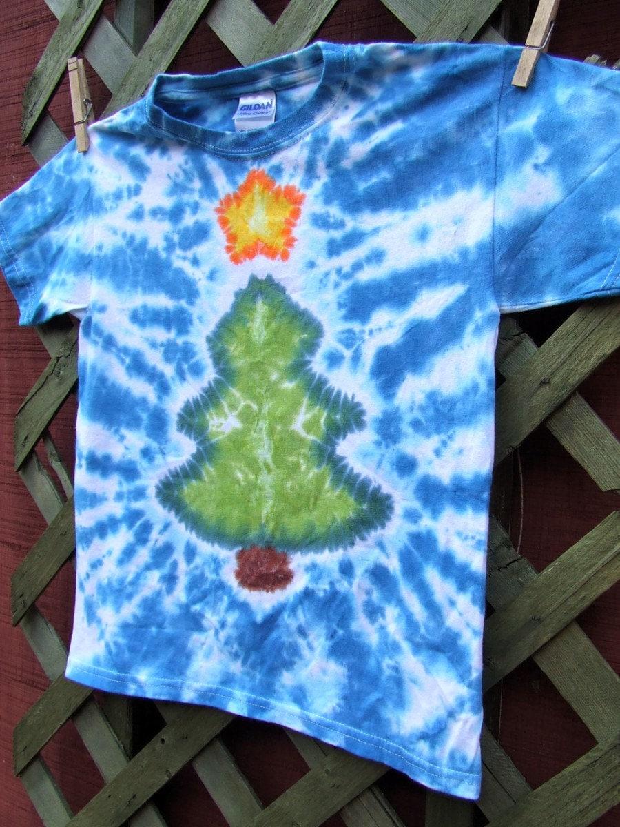 tie dye christmas tree - photo #12