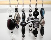 An Absence of Color Black Stitch Markers