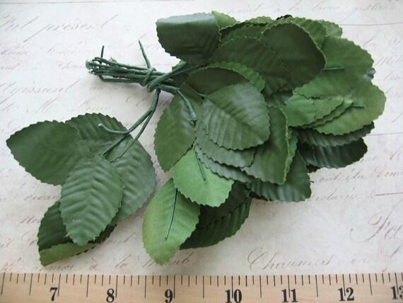 leaves / millinery leaf / destash craft making / bundle / 60 pcs