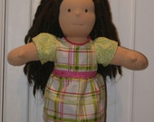 CUSTOM LISTING for Sarah - Waldorf Doll Dress and matching Scarf