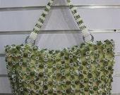 Handmade women bag fashion tote  purse birthday gift Bead Bag green classic and nobile ready to ship