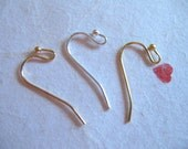 Shop Sale.. Brass French Hook Earrings Earwires, 50 pairs Bulk.. 20x12 mm, u pick mix, Silver, Yellow, or Rose Gold Plated Earrings. ber..