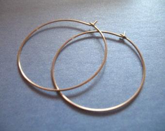 """Shop Sale.. 1 5 10 prs, 14k Gold Filled Hoop Earring Earwire, 35 mm, 1.5"""", interchangable add a dangle wholesale ihm.p gfh35 solo ih"""
