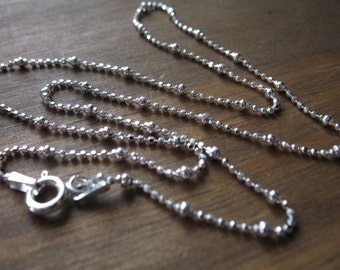 Shop Sale..1 pc, 16 inch, SATELLITE Chain BALL CHAIN, Sterling Silver, Finished Chain, solo wholesale done . d1.16 hp