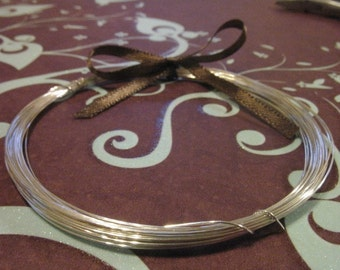 Shop Sale..5 feet, Sterling Silver Wire, 24 gauge ga g, dead soft or half hard, round, wholesale wire  WSS24..hp