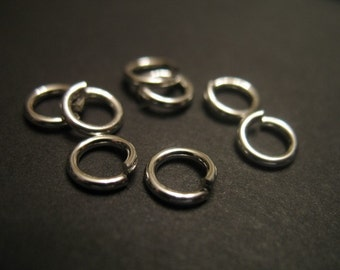 Shop Sale.. 925 Sterling Silver Jump Rings LOCKING Jump Locks, 10 pcs, 4 mm, 20 gauge ga g, OPEN.. secure  SJR4mm..hp plain
