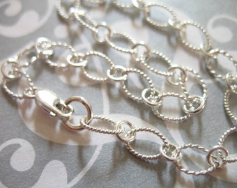 """Shop Sale.. Sterling Silver Chain, Finished Chain, CHARM BRACELET Chain, 1 pc, 7.5x5 mm, 7"""" inch, thick heavy, designer done b17.hp"""