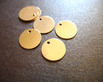 Shop Sale.. 5 10 20 pcs Bulk Blanks, 6 mm, Gold Blanks Discs, 14k Gold Filled Tags, Circle Round Blanks, Baby Petite, personalize blank6 v1