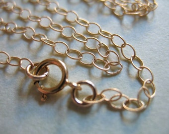 Shop Sale.. 1 pc, 30 inch, 14k Gold Filled Chain, Finished Chain, Textured Flat Cable Chain, 3.5x2.3 mm, done solo.. gf2.30 tpc