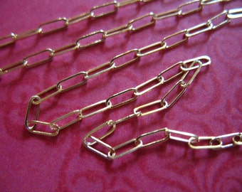 Shop Sale.. 14k Gold Filled Chain by the Foot, DRAWN Cable, Necklace Chain, Rectangle Links, 10-15% less Wholesale, 5.5x2 mm, ssgf SGF98