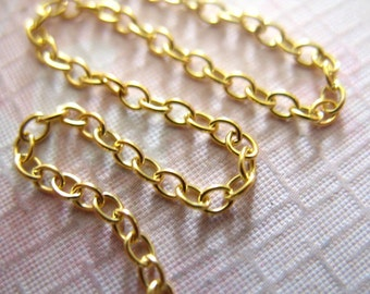 Shop Sale.. 5 feet, 14k Gold Filled Chain, Round Cable, Necklace Chain Bulk, Oval Links, 2.5x2 mm, medium,  wholesale sale.. SSGF. SGF5