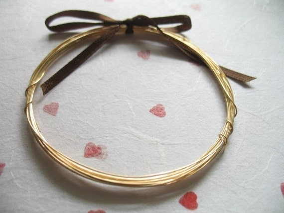 26 g gauge ga, 10 ft, 14kt kt Gold Filled Wire, dead soft, round
