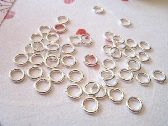 Shop Sale..50 pcs, 925 Sterling Silver Jumprings Jump Rings, BULK, 3 mm, 22 g gauge ga, OPEN.. for petite delicate needs SJR3mm hp solo