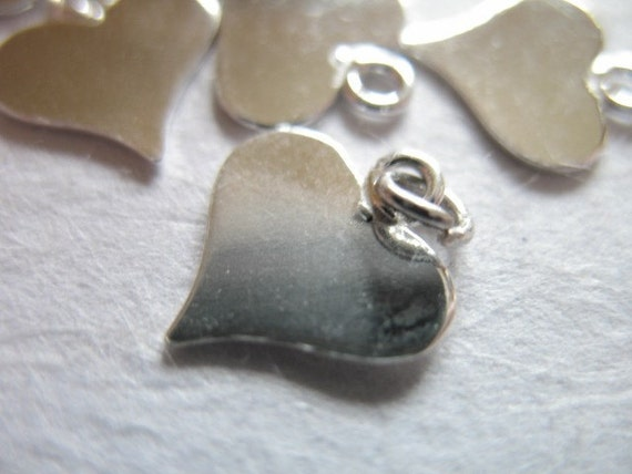 Shop Sale..5 10 20 50 pcs, Sterling Silver HEART Blanks Discs Tags, 11x10 mm, THICK 24 gauge ga g, personalized jewelry.. blankheart hp