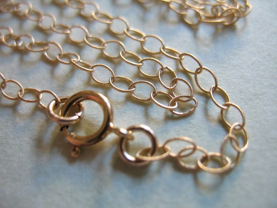"""Shop Sale..14k Gold Filled Chain, FINISHED Chain, 1 pc, 24"""" in inches, 3.5x2.3 mm, Sweet n Delicate, Textured Cable..solo..gf2.24"""