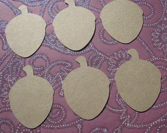 Acorn die cut gift tags set of 15