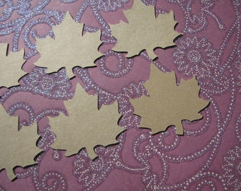 Maple leaf shaped gift tags set of 10